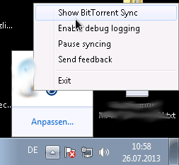 Bildschirmfoto_btsync_Windows7_1