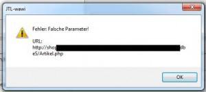 Bildschirmfoto-JTLwawi-Fehler-falscher-Parameter-300x134